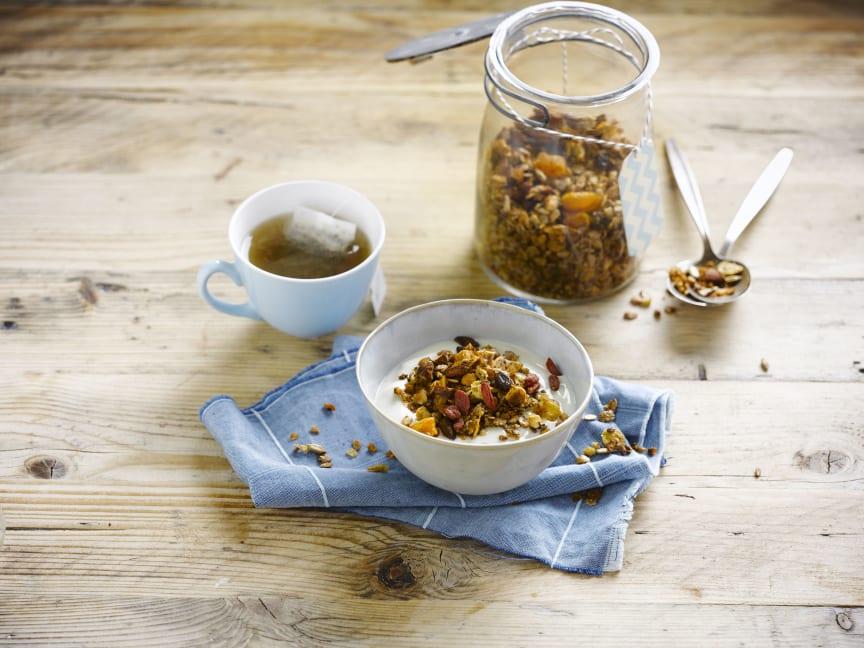 Alpro alternativ til yoghurt kokos granola