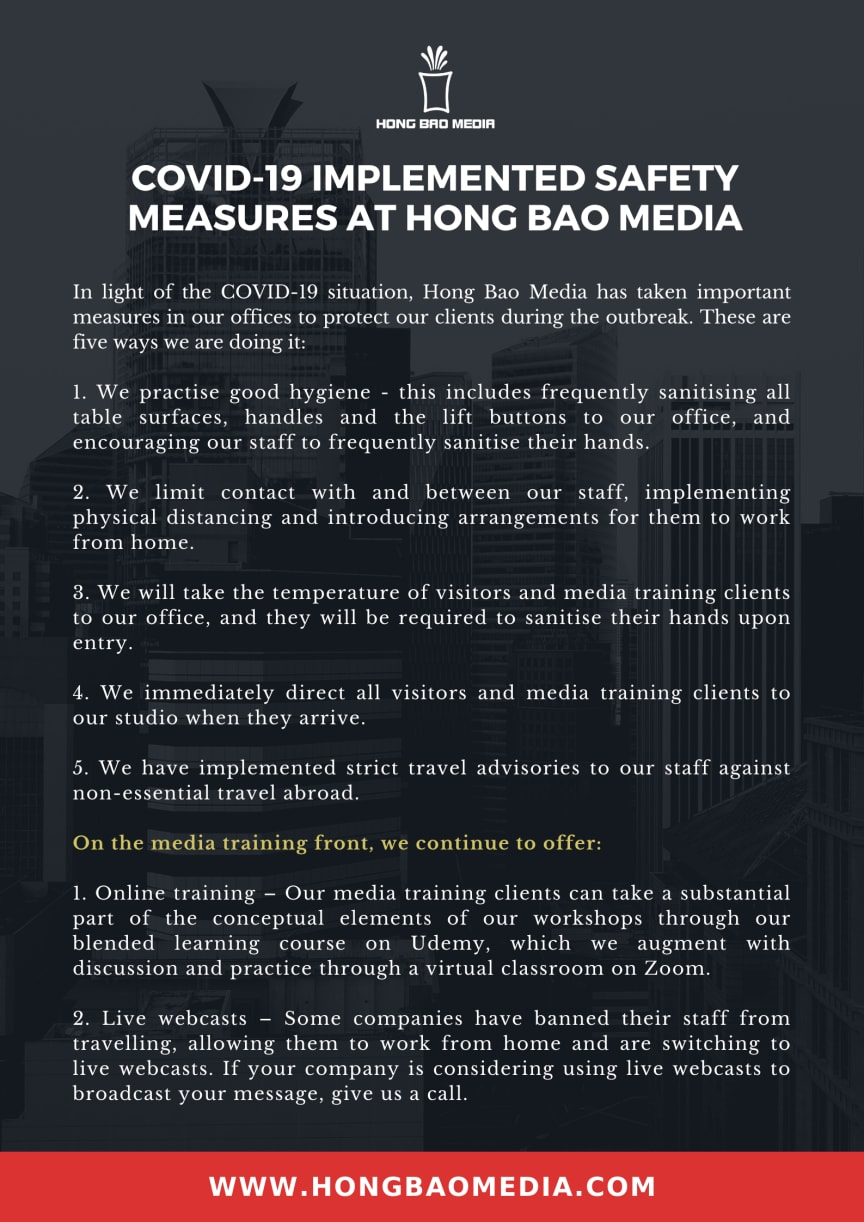 Hong Bao Media - COVID-19 Measures