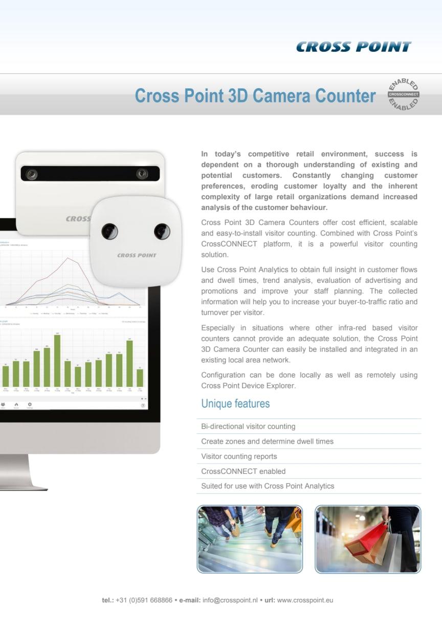 Kundräknare från Gate Security - Cross Point 3D Camera Counter