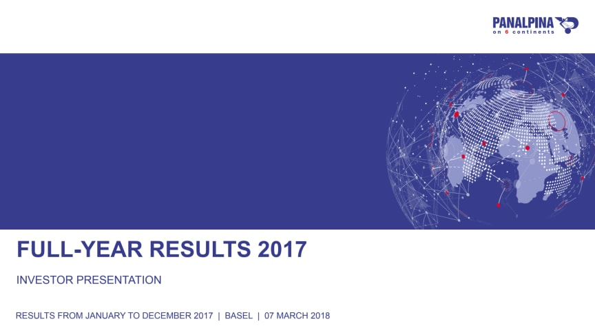 Full-Year Results 2017 – Investor Presentation