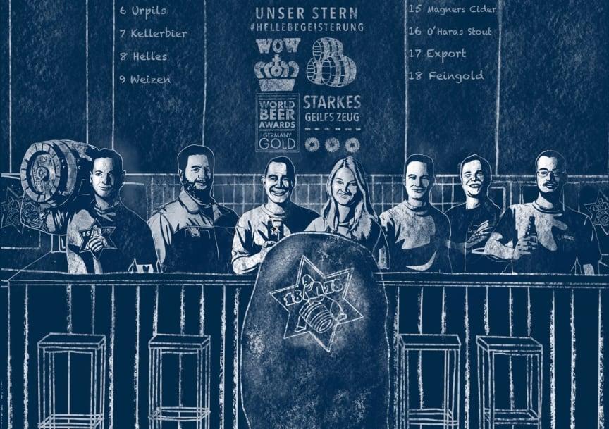 Die Brauer der Karlsberg Brauerei.