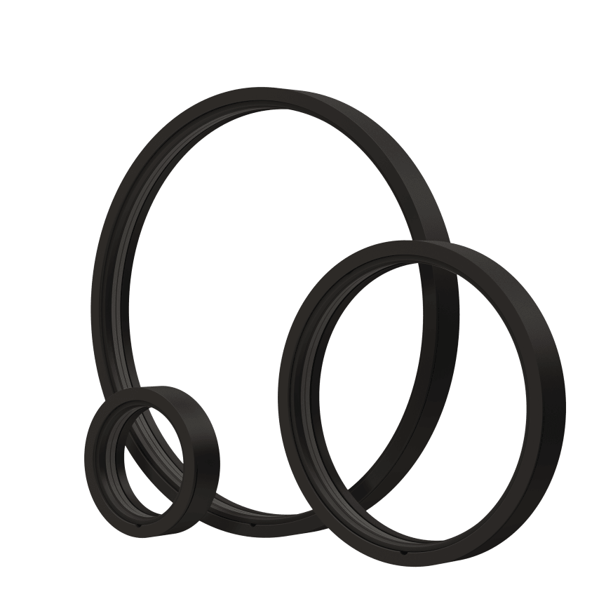 NorDan 3D-printat fönster i Biokomposit, svart