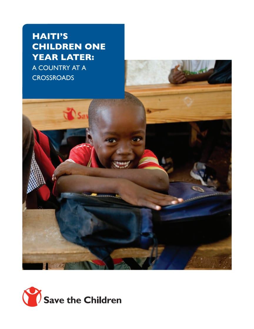 Save the Children Haiti 1 Year Report