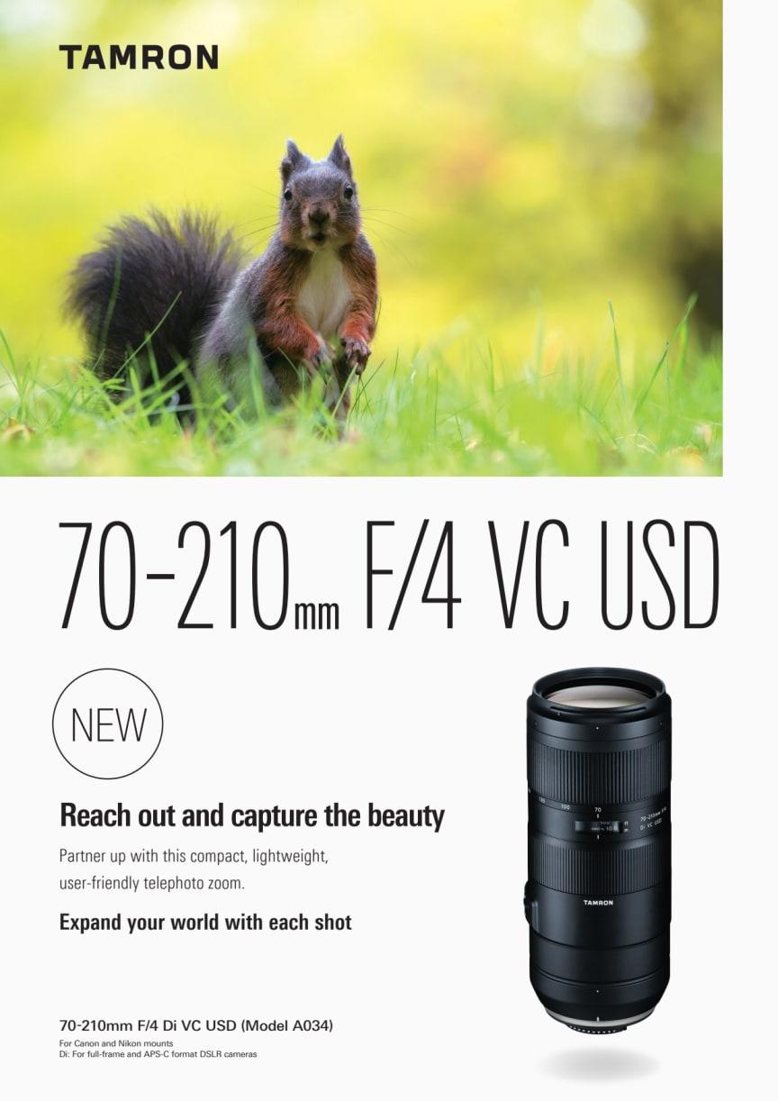 Tamron 70-210mm f4 Di VC USD Leaflet