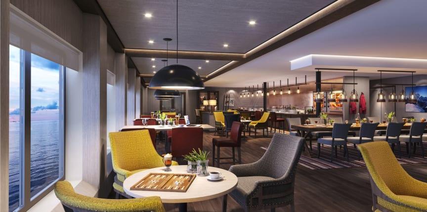 Restaurant Fredheim MS Maud - photo credit Hurtigruten