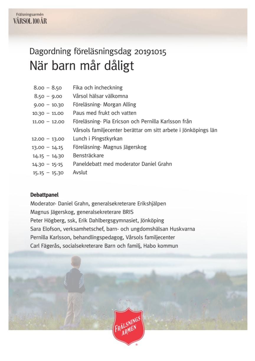 Agenda seminarium Vårsol