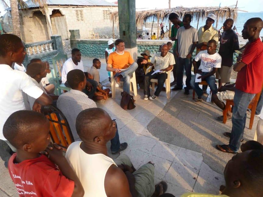 Medborgarmöte i Les Cayes på Haiti