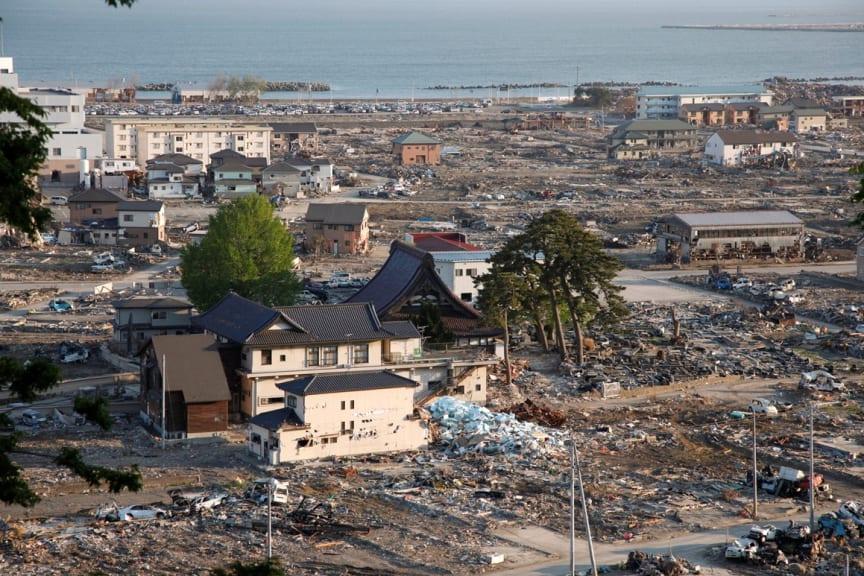 Ishinomaki i Iwate län den 21 mars 2011 - Bild hämtad ur boken Fukushimas färger av Elin Lindqvist
