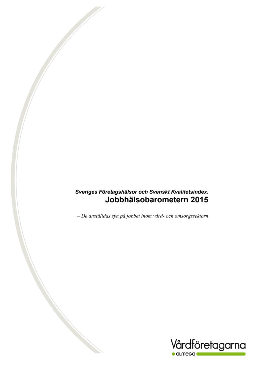Jobbhälsobarometern 2015