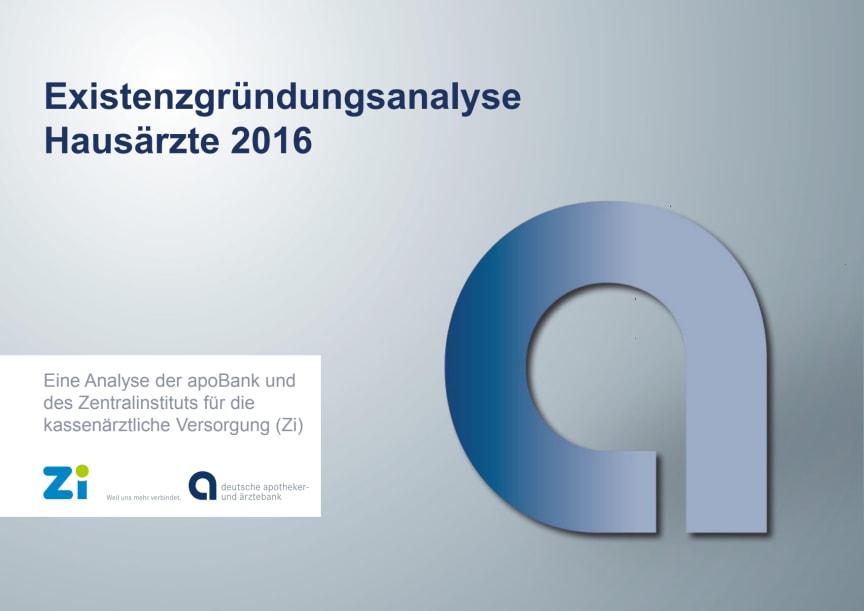 Grafiken: Existenzgründungsanalyse Hausärzte 2016