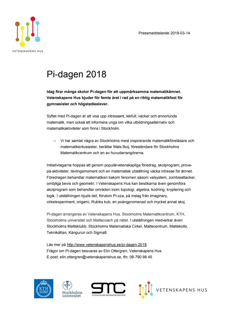 Pi-dagen 2018
