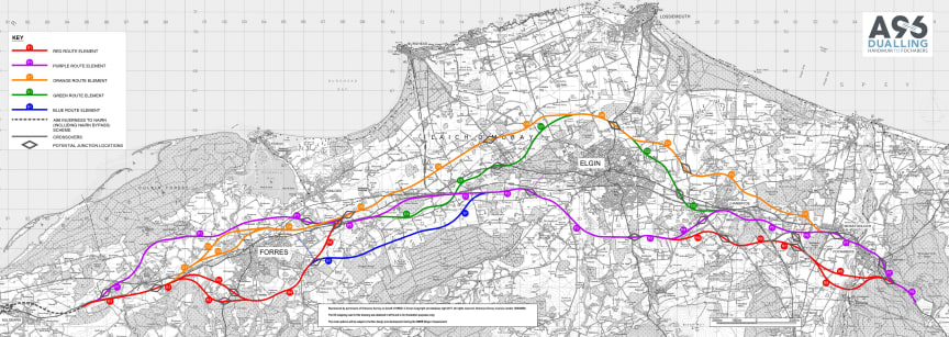 Large file of A96 dualling options