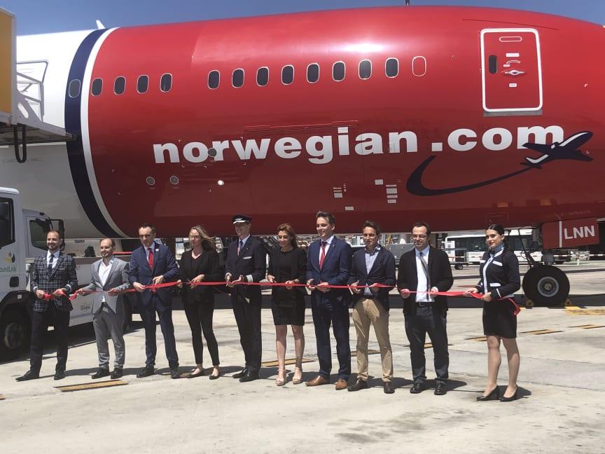 Norwegian vuelo  inaugural Barcelona- Chicago