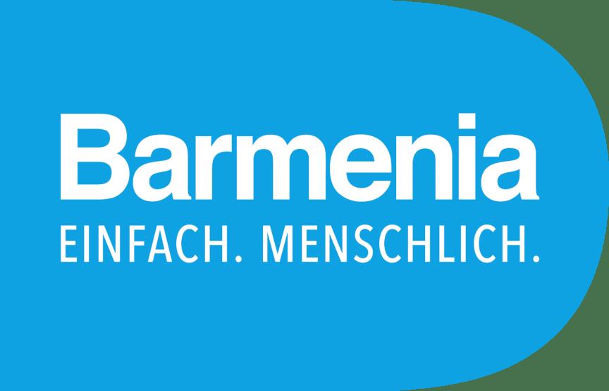 00_Barmenia_logo_claim_weiss_Punze_blau (Bitte Beschreibung beachten)