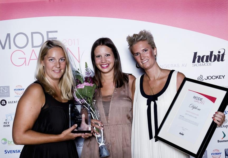 Vinnare Årets Kundklubb, Modegalan 2011