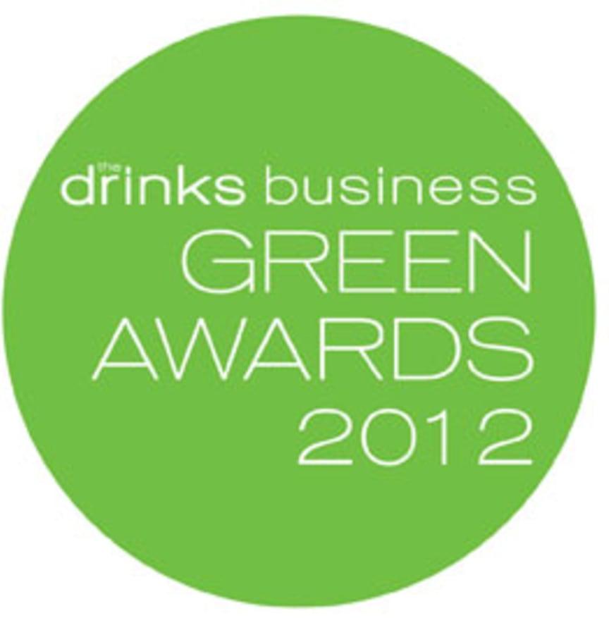 "The Drinks Business Magazine ""Green Awards 2012"" Logo"