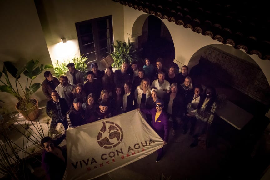 THE CREW of Viva con Agua in California