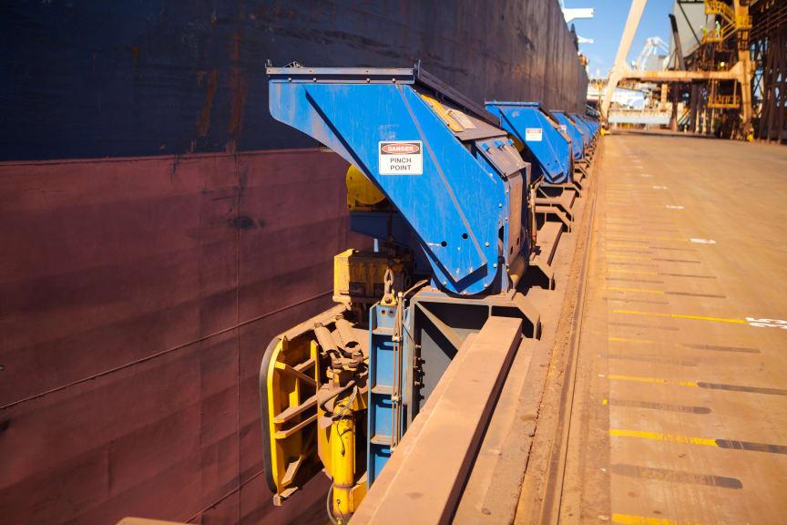 MoorMaster automated mooring unit at Port Hedland, Western Australia. #Cavotec