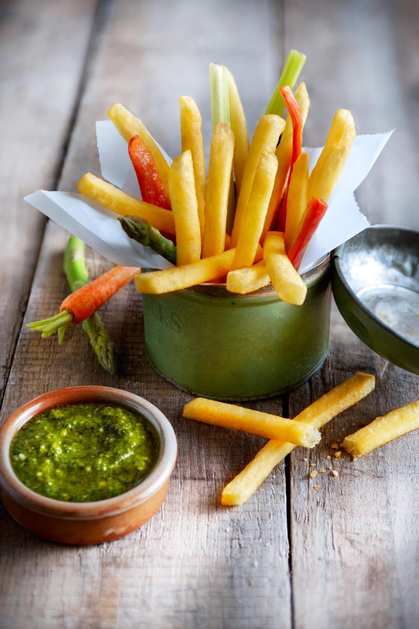 Aviko Super Crunch pommes frites med dipp