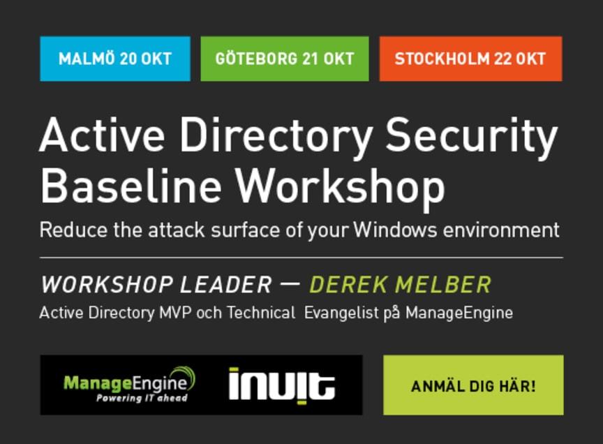 Active Directory Security Baseline Workshop Roadshow