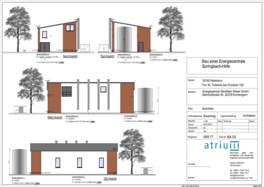 Springbach Höfe Planungsansichten Heizzentrale