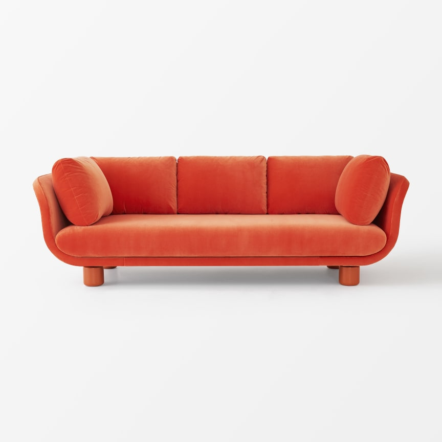 Svenskt_Tenn_Sofa_Famna_2020_3_Seater_Velvet_Orange_1