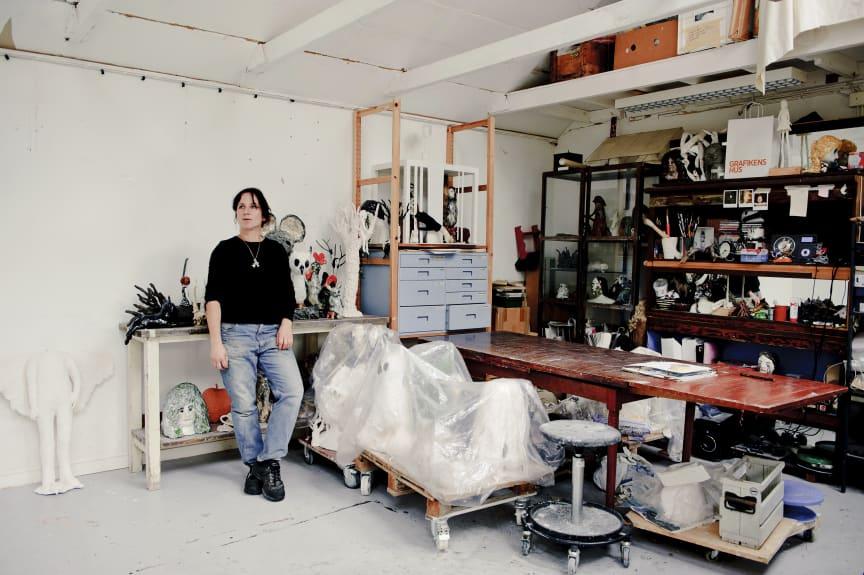 Klara Kristalova in her studio. November 2011.