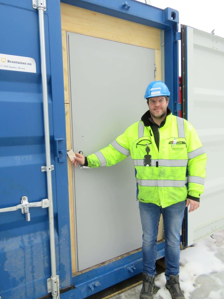 Containerlås, Moelven Byggmodul Hjellum AS, Arnstein Sortdal