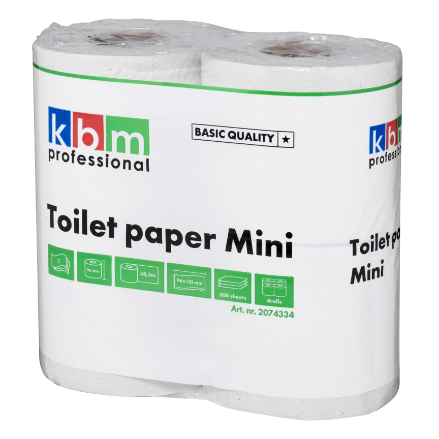 KBM Toalettpaper Mini 38,5m Kvalitet Basic