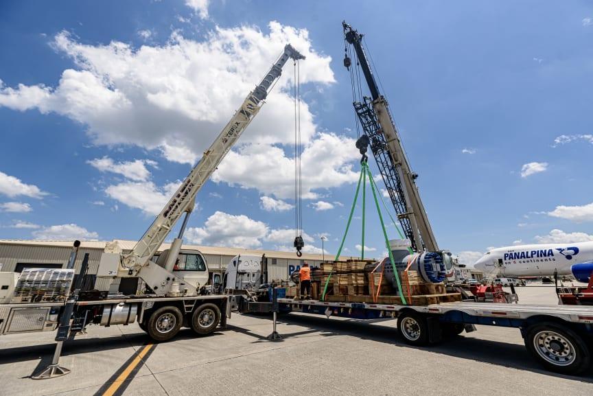 Huntsville: A heat exchanger is prepared for loading