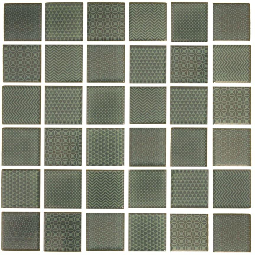 Mosaik Eventyr Moster Grøn 30x30, 698 kr. M2.