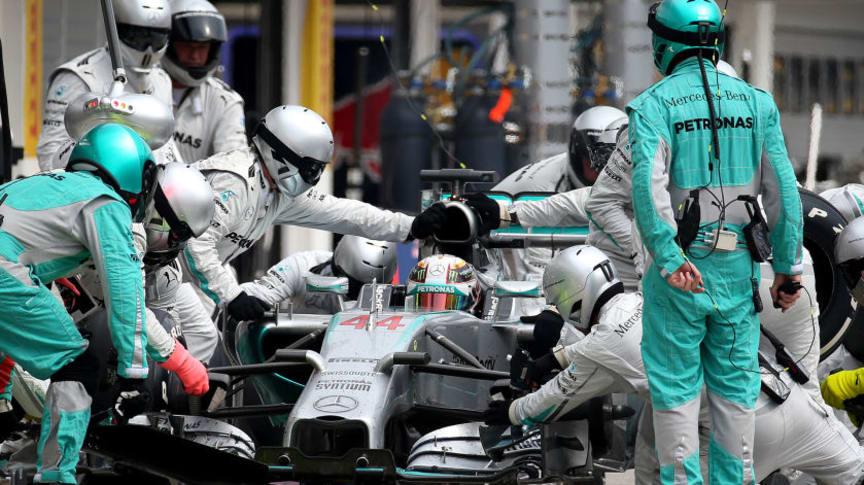 Formel 1 pitstop Mercedes
