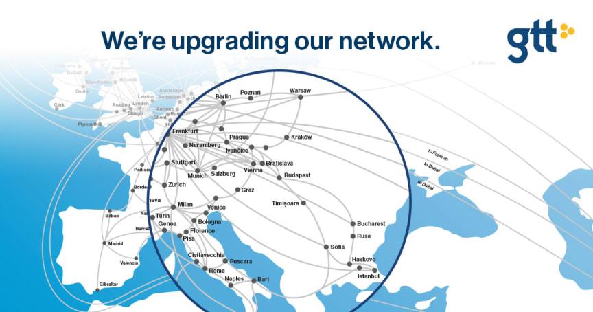 GTT Upgrade network East Europe