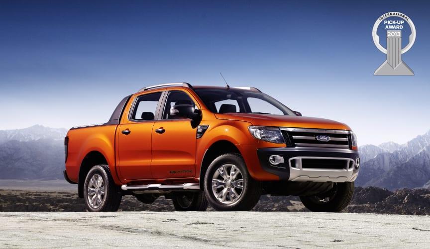 Nya Ford Ranger har blivit utsedd till årets Pick-Up 2013