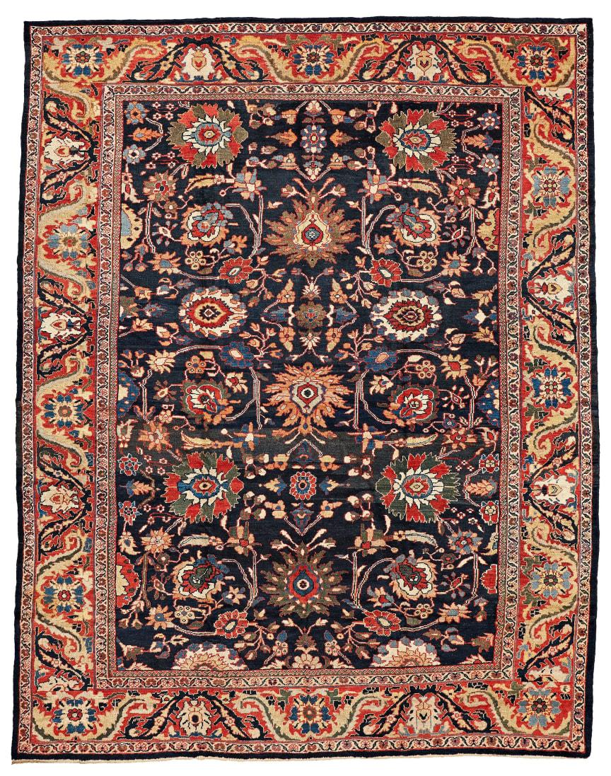 MATTA, antik Ziegler Mahal, ca 417,5 x 326 cm. Utrop 110 000 - 140 000 SEK.