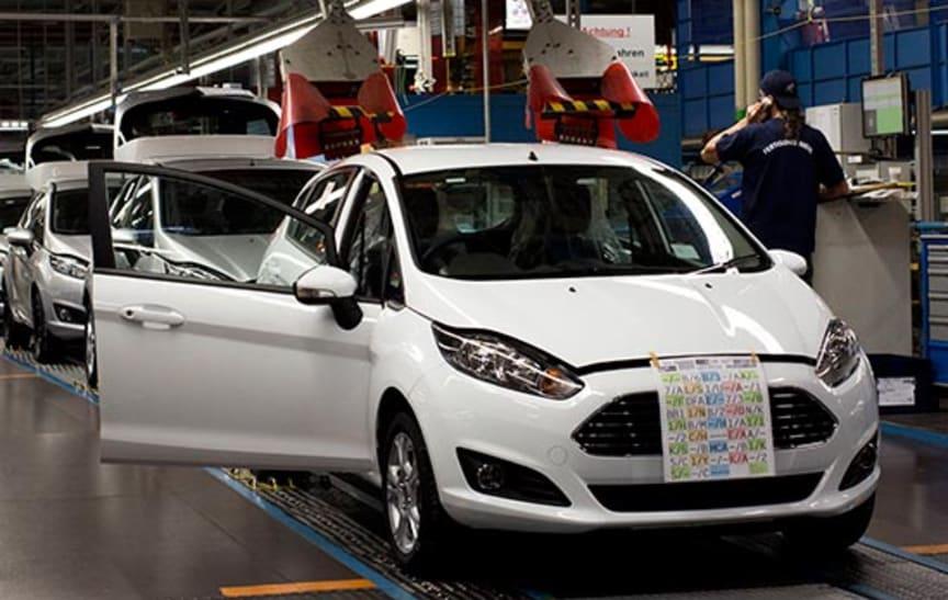 Nye Ford Fiesta startet produksjonen i dag.
