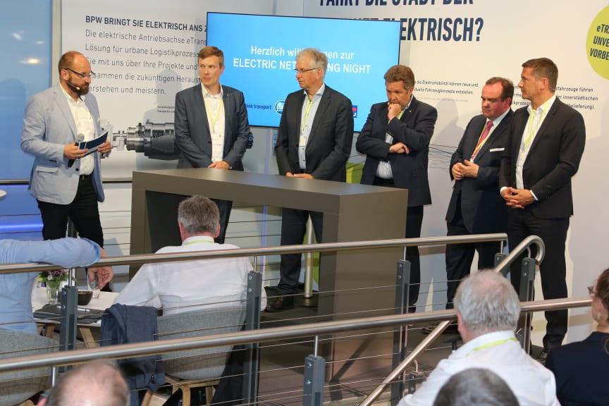 """-First """"Electric Networking Night"""" at the transport logistic trade fair in Munic"""