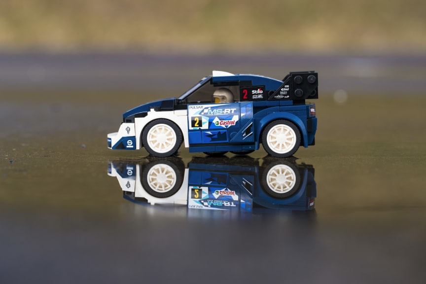 M-Sport Ford Fiesta WRC rallybilen fejres med Lego-version