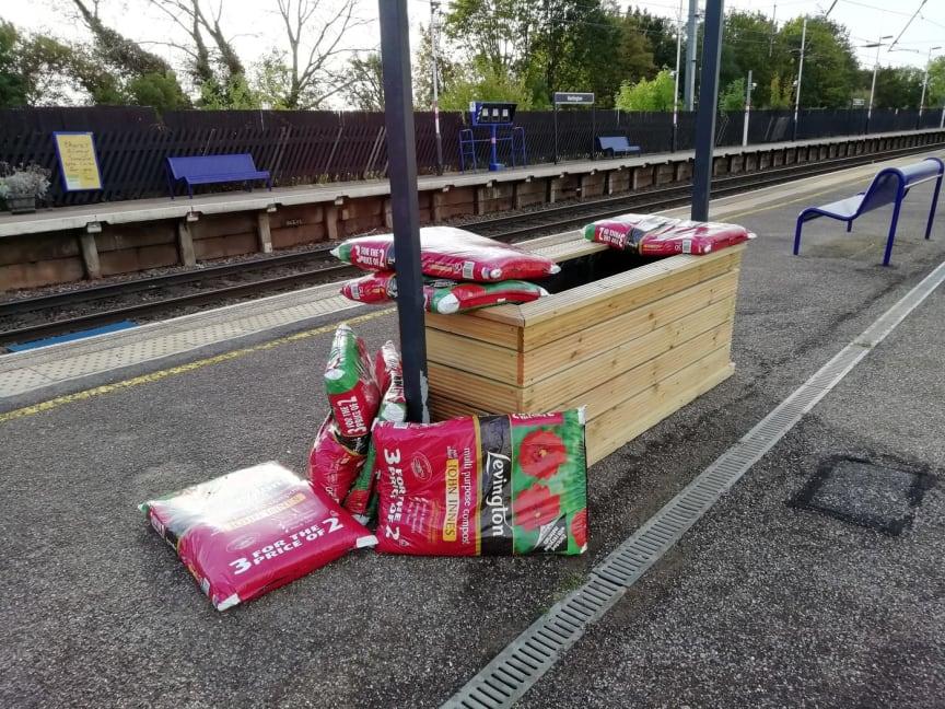 Harlington station garden event