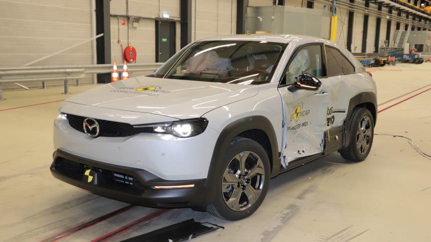 Mazda MX-30 - Side Mobile Barrier test 2020 - after crash
