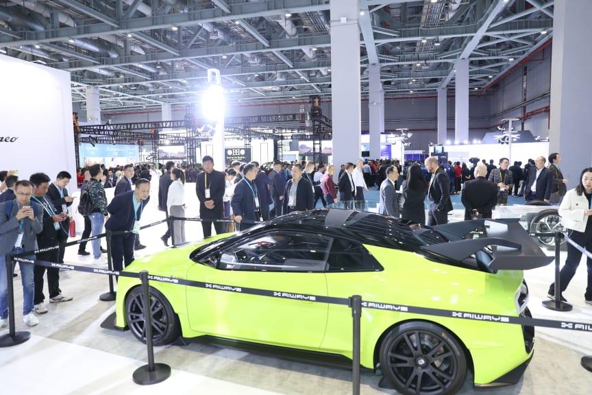 Gumpert AIWAYS Nathalie powered by methanol fuel cells displayed at CIIE 2019