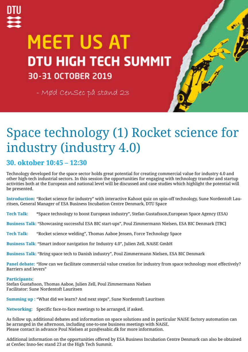 Space technology (2) Autonomous  Infrastructure