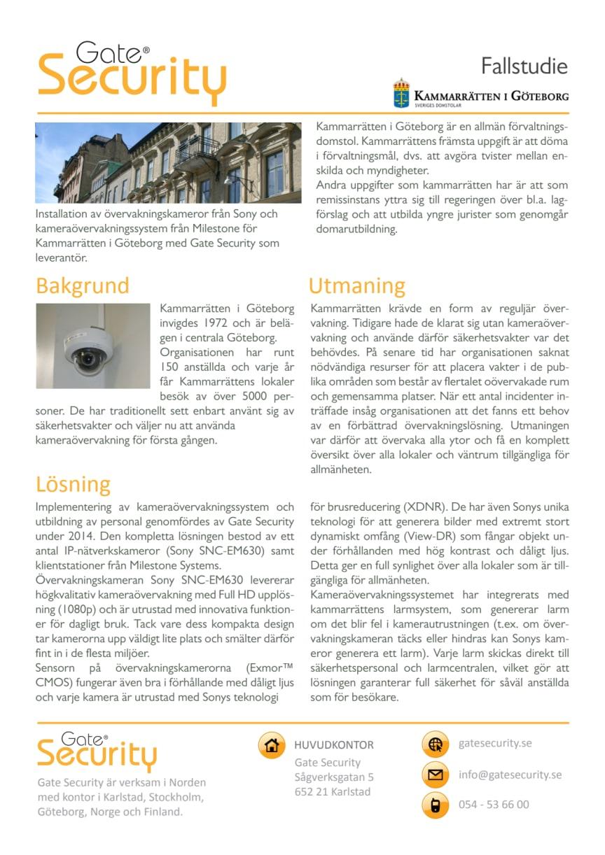 PDF - Fallstudie av kameraövervakning: Kammarrätten i Göteborg
