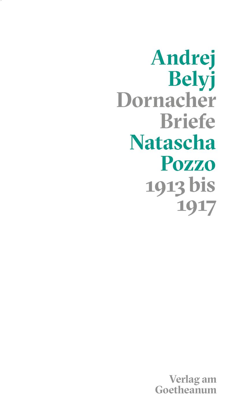 Cover Andrej Belyj Die Dornacher Briefe_Verlag am Goetheanum