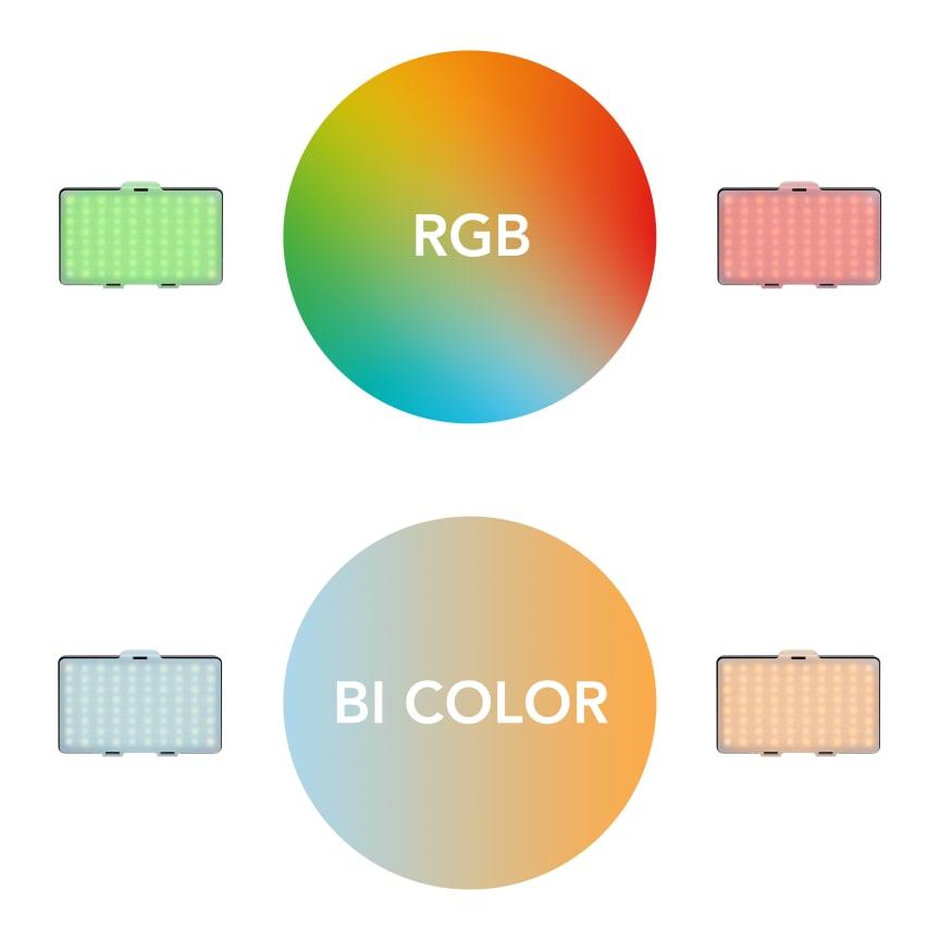 Walimex pro Rainbow Pocket RGBWW 23036 07 Farben