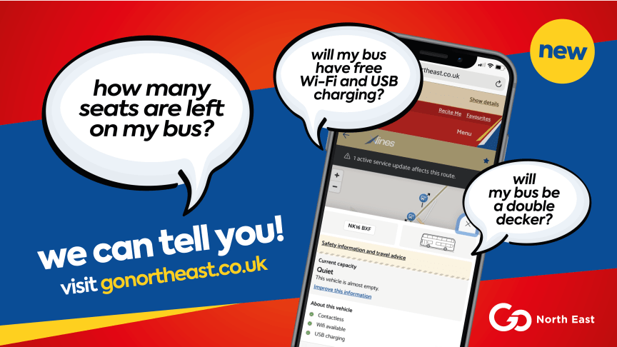 Go North East launches innovative features to help with social distancing on board its buses