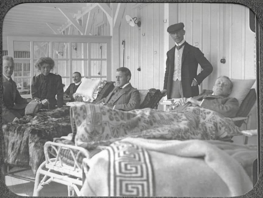 Rolf de Maré på sanatoriet i Davos