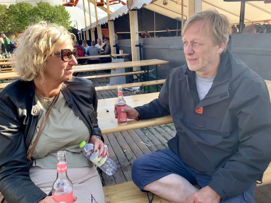 Heidi Schütt Larsen og Jan Bechmann på Roskilde festival