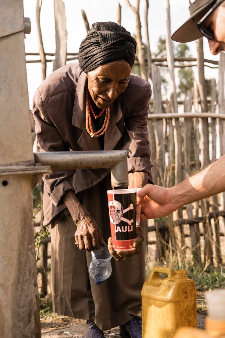 Hier kommen die Becherspenden an: Wasser für Äthiopien