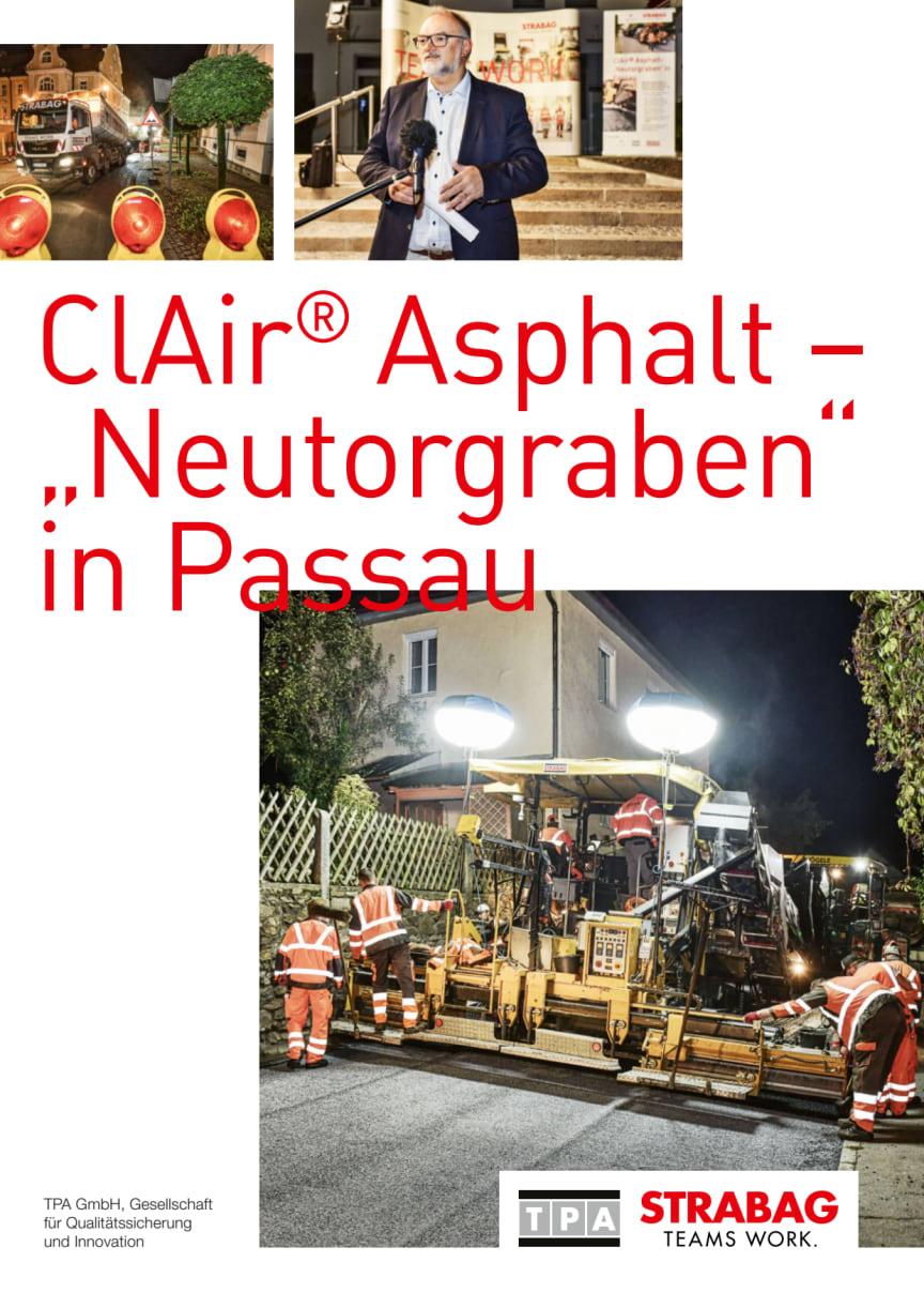 """ClAir® Asphalt – """"Neutorgraben"""" in Passau"""